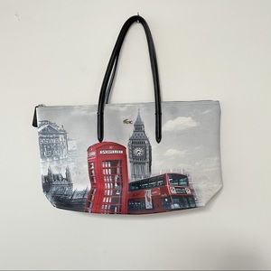Lacoste tote, London Big Ben print